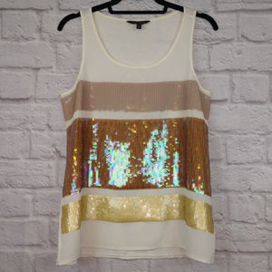 NWOT -Express Sequined Color Block Tank Top Size M